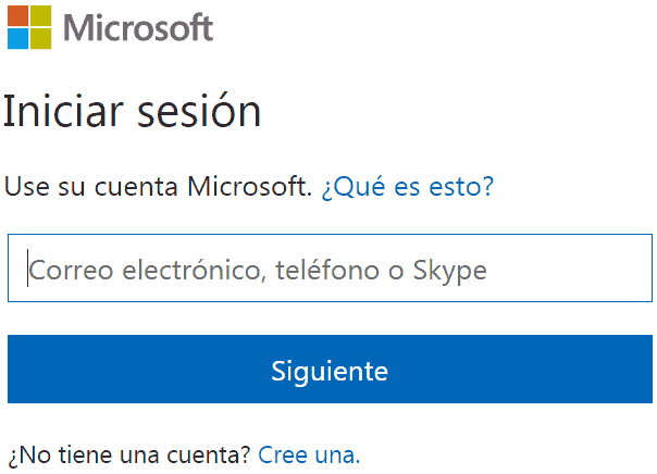 outlook iniciar sesión